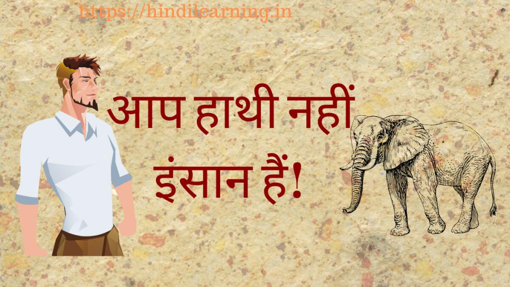 आप हाथी नहीं इंसान हैं! - Hindi Learning