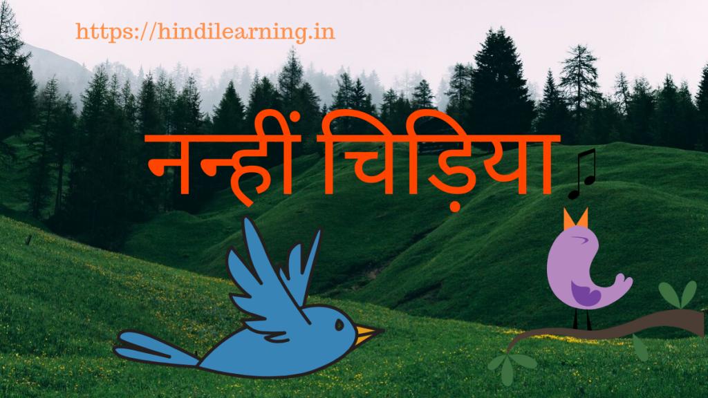 नन्हीं चिड़िया | Hindi Learning