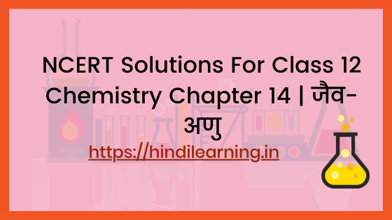 NCERT Solutions For Class 12 Chemistry Chapter 14 | जैव-अणु