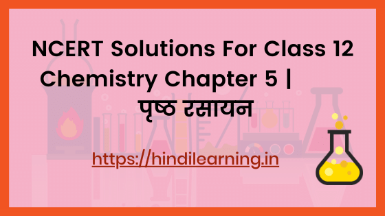 NCERT Solutions For Class 12 Chemistry Chapter 5 | पृष्ठ रसायन