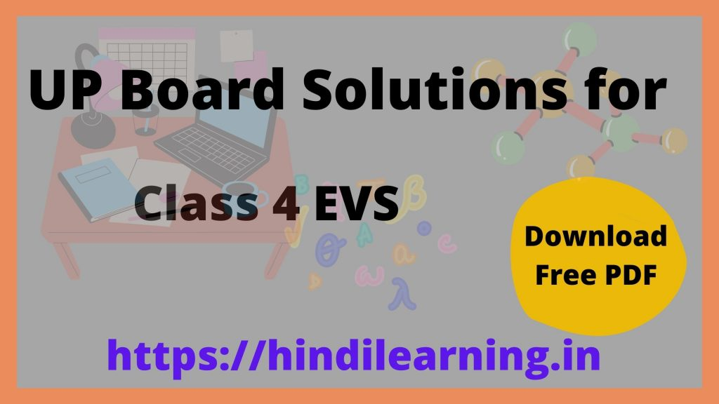 UP Board Solutions for Class 4 Environmental Studies