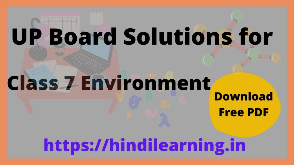 UP Board Solutions for Class 7 Environment