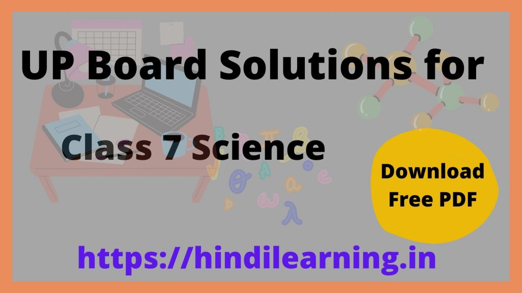 UP Board Solutions for Class 7 Science